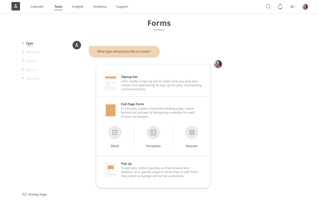 Forms and Pages APSIS One Marketing platform