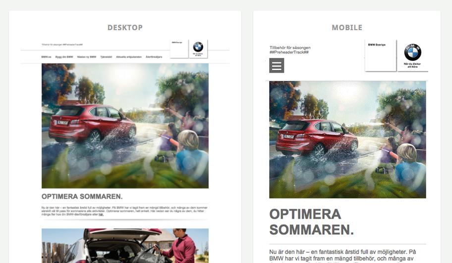 APSIS Email Design Gallery: BMW Sverige