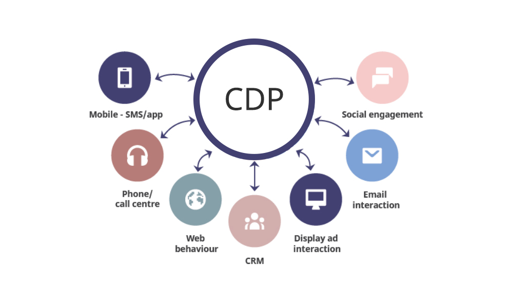 Illustration of data collection through a CDP