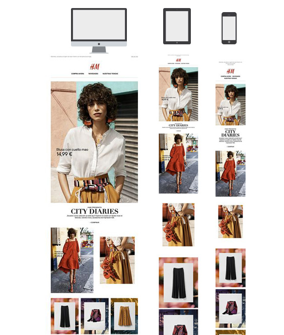 H&M does responsive email design very well | APSIS