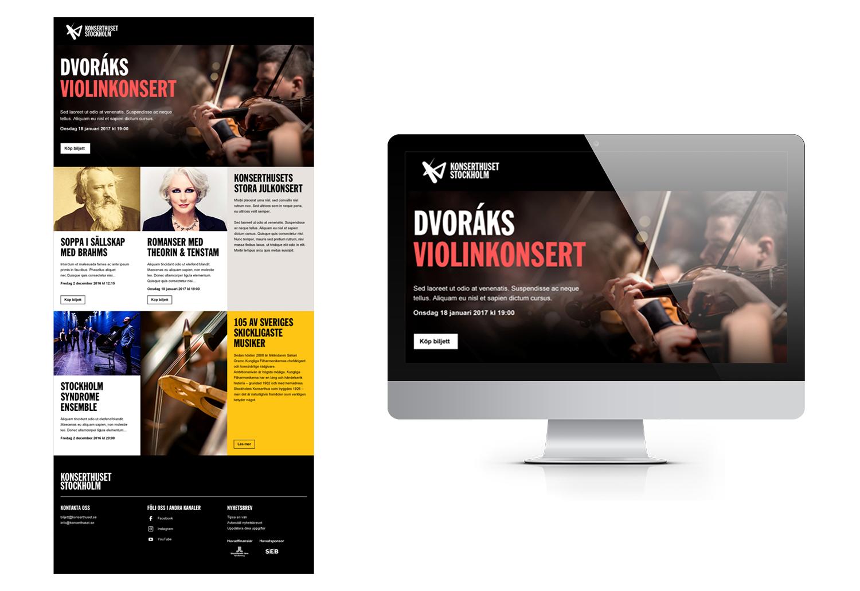 Stockholm Konserthuset Email Design | APSIS Blog
