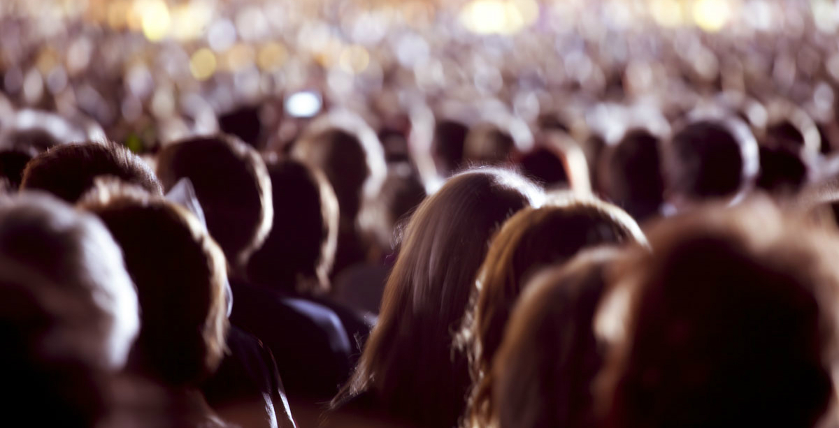 People standing in a crowd