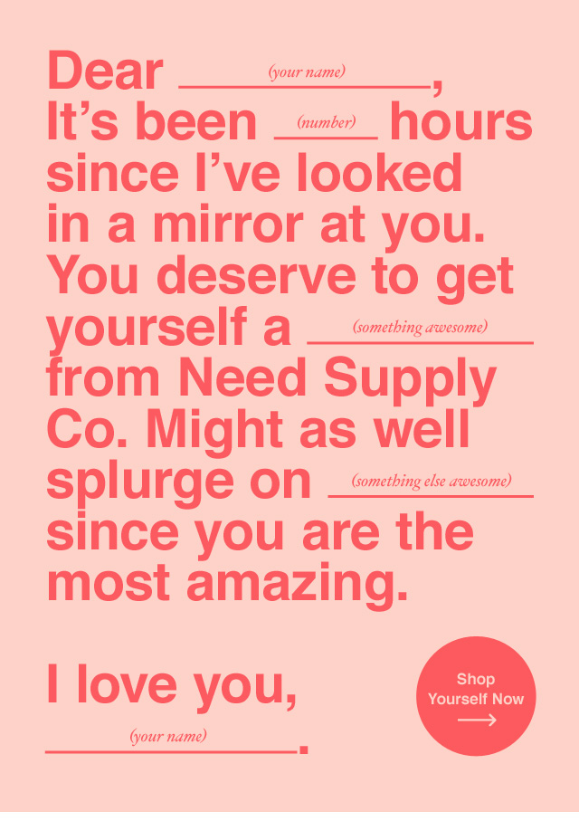 Great Valentine's Email Example: Need Supply Co.